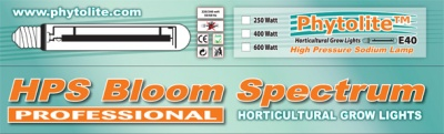 BULBO PHYTOLITE 600 W HPS BLOOM SPECTRUM (SOLO FIORITURA)